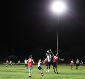 Picture: Footy under the new lights